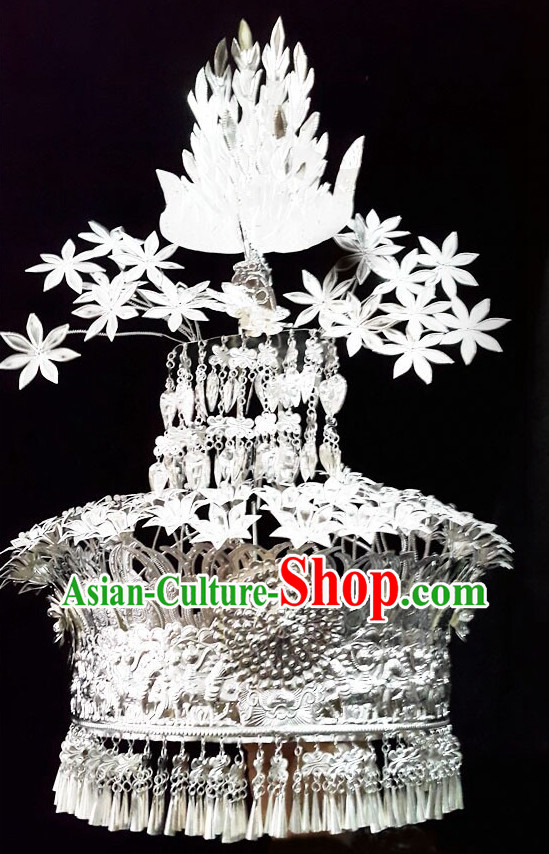 Traditional Silver Miao Hat
