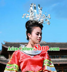 Traditional China Silver Headgear
