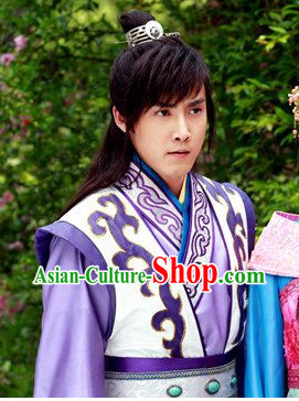 China Tang Prince Costumes and Coronet Complete Set for Men
