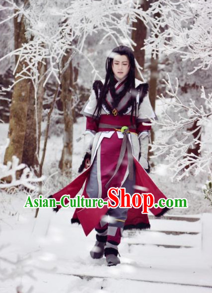 Chinese Traditional Superhero Costumes Complete Set for Men