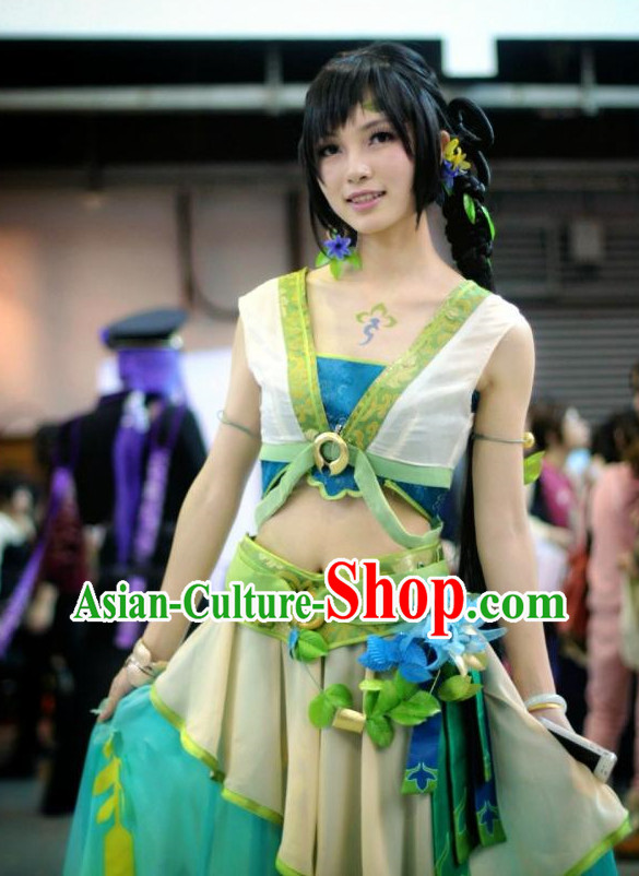 Asian Fashion Forest Princess Cosplay Costumes Full Set