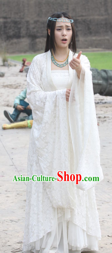 Asian Begum Costumes and Hair Jewelry Complete Set for Women