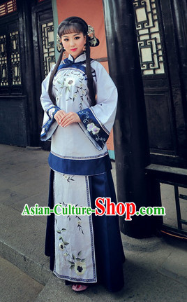 China Minguo Time Lady Mandarin Clothes Complete Set for Women