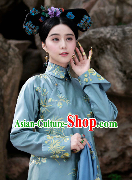Qing Dynasty Royal Family Lady Clothing Complete Set for Women