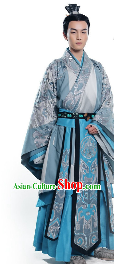 Asian Emperor Hanfu Dress Full Set for Men