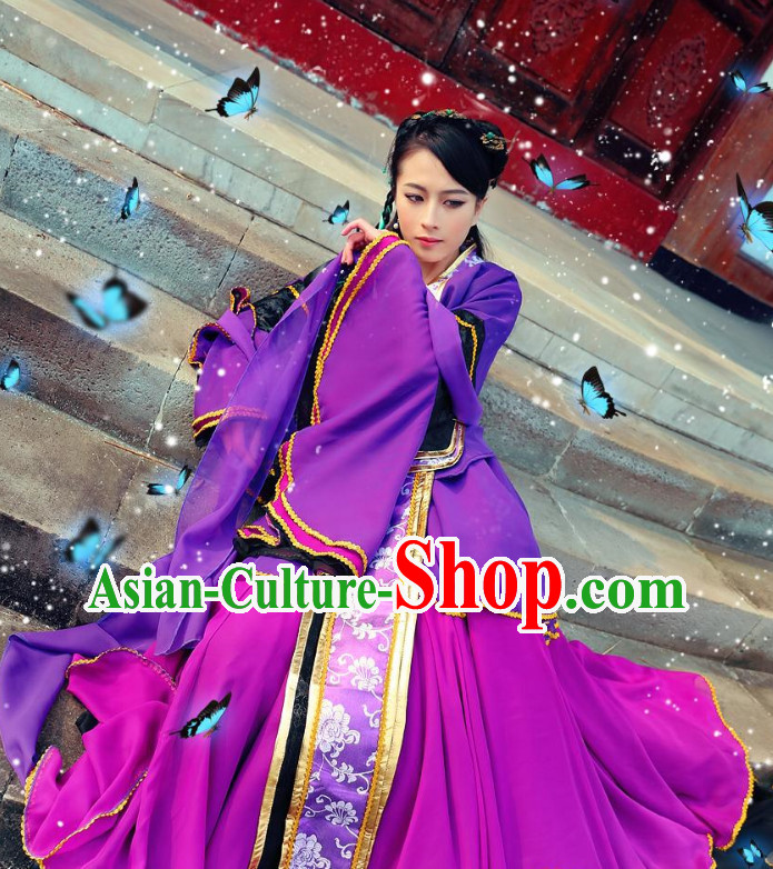 Asian Purple Queen Costumes Complete Set