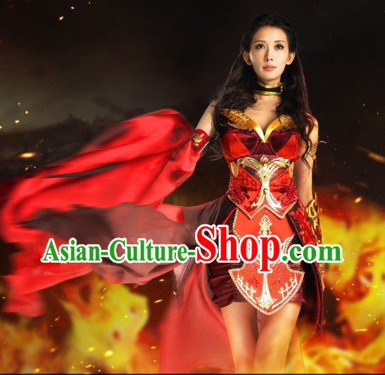 Asian Goddess Sexy Costumes and Hair Accessories