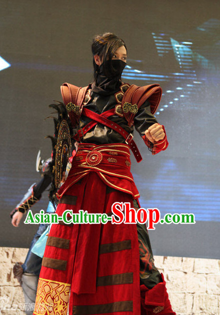 High Shoulder Asian Paladin Cosplay Costumes Complete Set