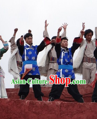 Chinese Tibetan Ethnic Men's Clothes