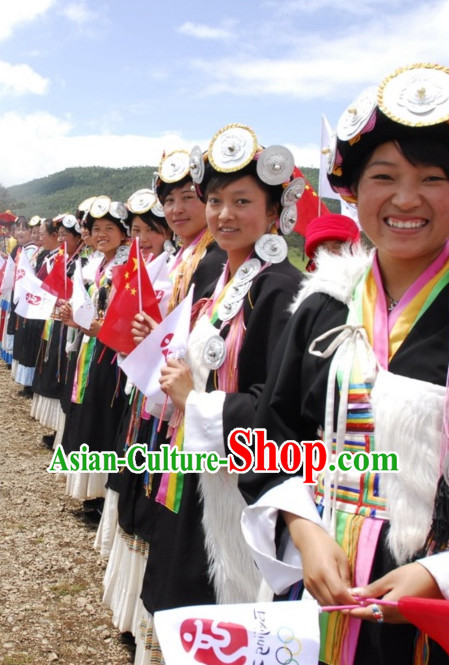 Chinese Minority Group Costume & Accessories of Naxi