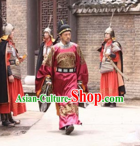 Chinese Ancient Detective Theme Photography Costumes and Hat for Men