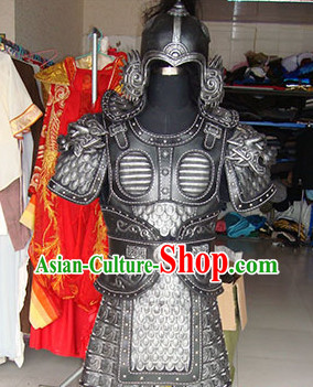 Chinese Superhero TV Play Armor Costumes and Helmet