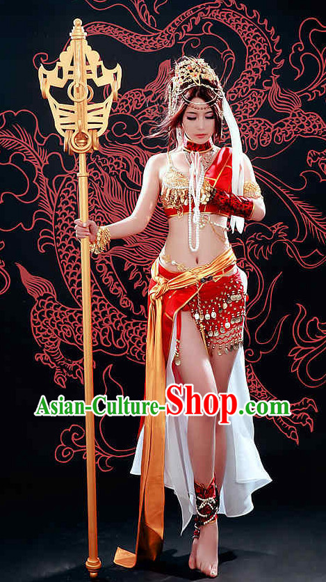 Asian Sexy Fairy Mysterious Lady Costumes and Hair Accessories