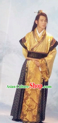 China Ancient Traditional Nobleman Long Suit Complete Set for Men