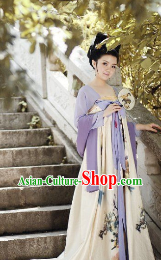 China Ancient Traditional Tang Suit Skirt for Girls