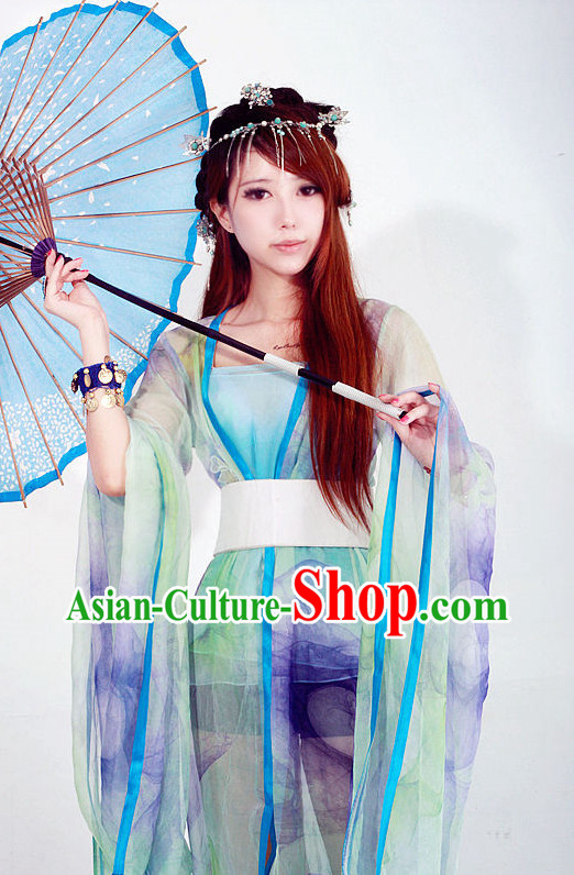 China Ancient Traditional Umbrella Costumes