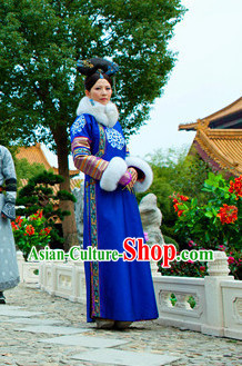 Traditional Imperial Qing Empress Long Robe