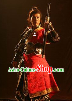 Ancient China Warrior Armor Cosplay Costumes for Men