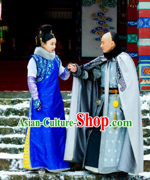Chinese Traditional Aristocracy Costumes for Men and Women