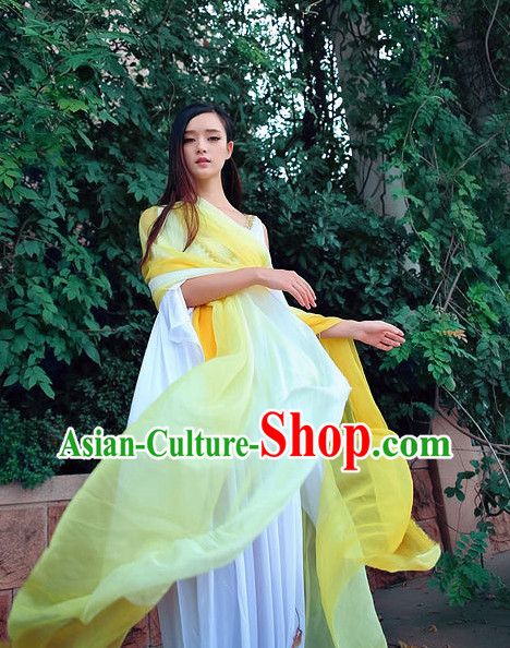 China Yellow Classical Dance Costumes