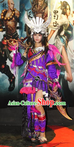 China Miao Costumes and Hat for Women