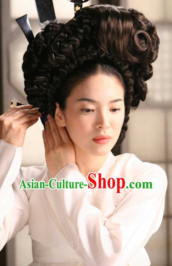 Korean Traditional Black Wig