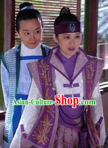 China Ancient Hero Suit and Headwear for Women or Men