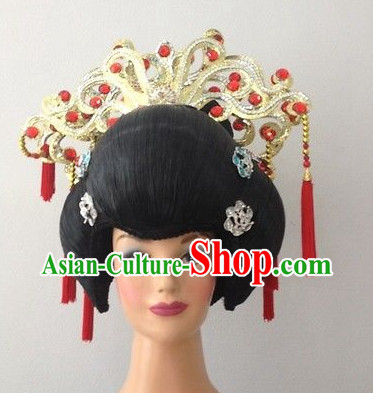 China Ancient Princess Black Wig and Hair Accessories
