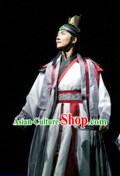 Korean Traditional Scholar Dress and Hat for Men