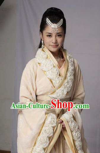 Chinese Princess Stage Costumes and Hair Jewelry