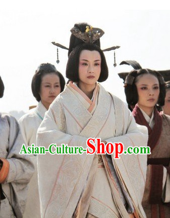 Chinese Empress Hanfu Costumes and Hair Ornaments