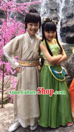 Chinese Lengend of the Ancient Sword Hero TV Play Fairy Costumes for Kids