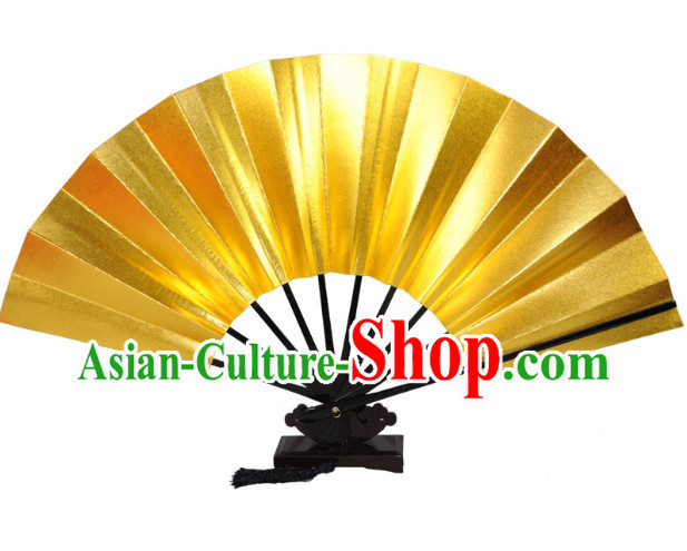 Gold Handmade Chinese Dancing Fan
