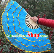 Chinese Festivel Celebration Blue Dance Fan