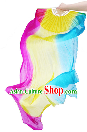 71 Inches Long Pure Silk Dance Fan Veils