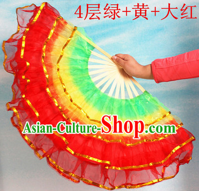Four Layers Chinese Lace Hands Fan