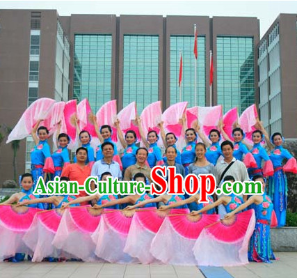 Competition Quality Chinese Silk Dancing Fans