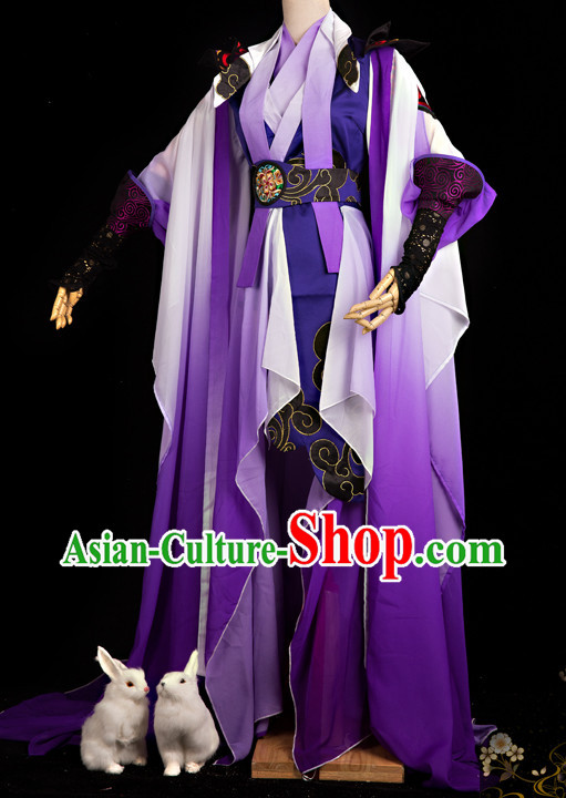 Chinese Purple Fairy Costumes COSPLAY Complete Set