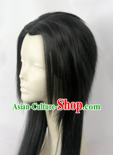 Chinese Fashion Long Black Wig Hair Extensions