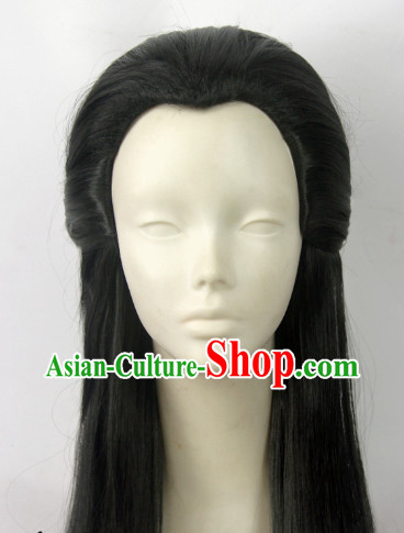 Chinese Fashion Long Black Hair Wig
