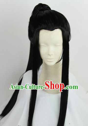 Chinese Fashion Ancient Style Male Long Wig