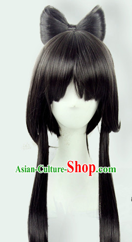 Cute Cosplay Princess Butterfly Style Long Black Wig