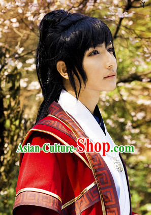 Traditioal Chinese Black Guzhuang Long Wig