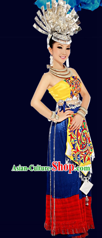 China Miao Minority Ethnic Suit and Hair Accessories for Women