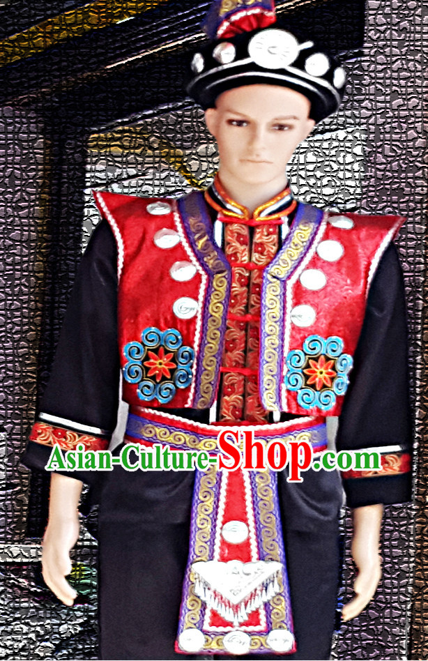 China Miao Dresses and Hat for Boys