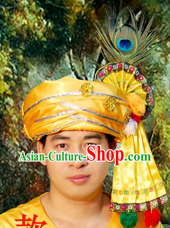 Traditional Asian Thailand Peacock Headpieces for Men