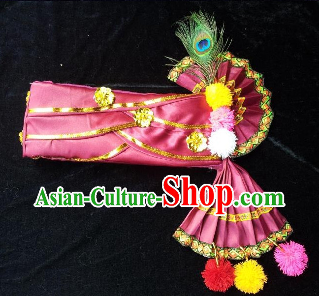 Traditional Asian Thailand Peacock Headwear for Men