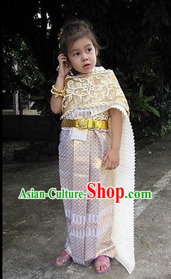 Formal Thai Clothing for Kids Girls