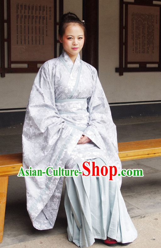 Chinese Hanfu Robe and Skirt for Women