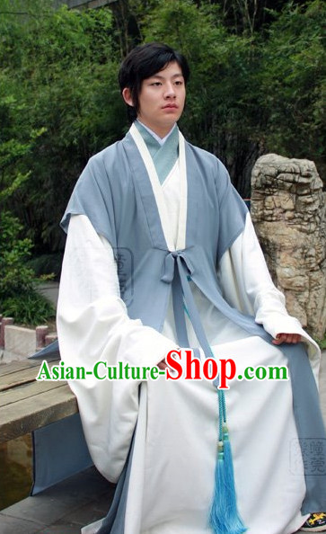 China Classical Hanfu Clothes of Male Civilian
